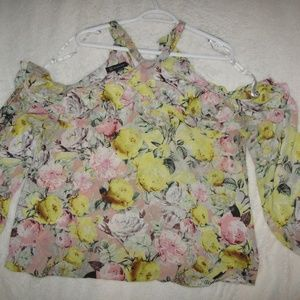 INC International Concepts Tops - I.N.C. international concepts yellow pink blouse